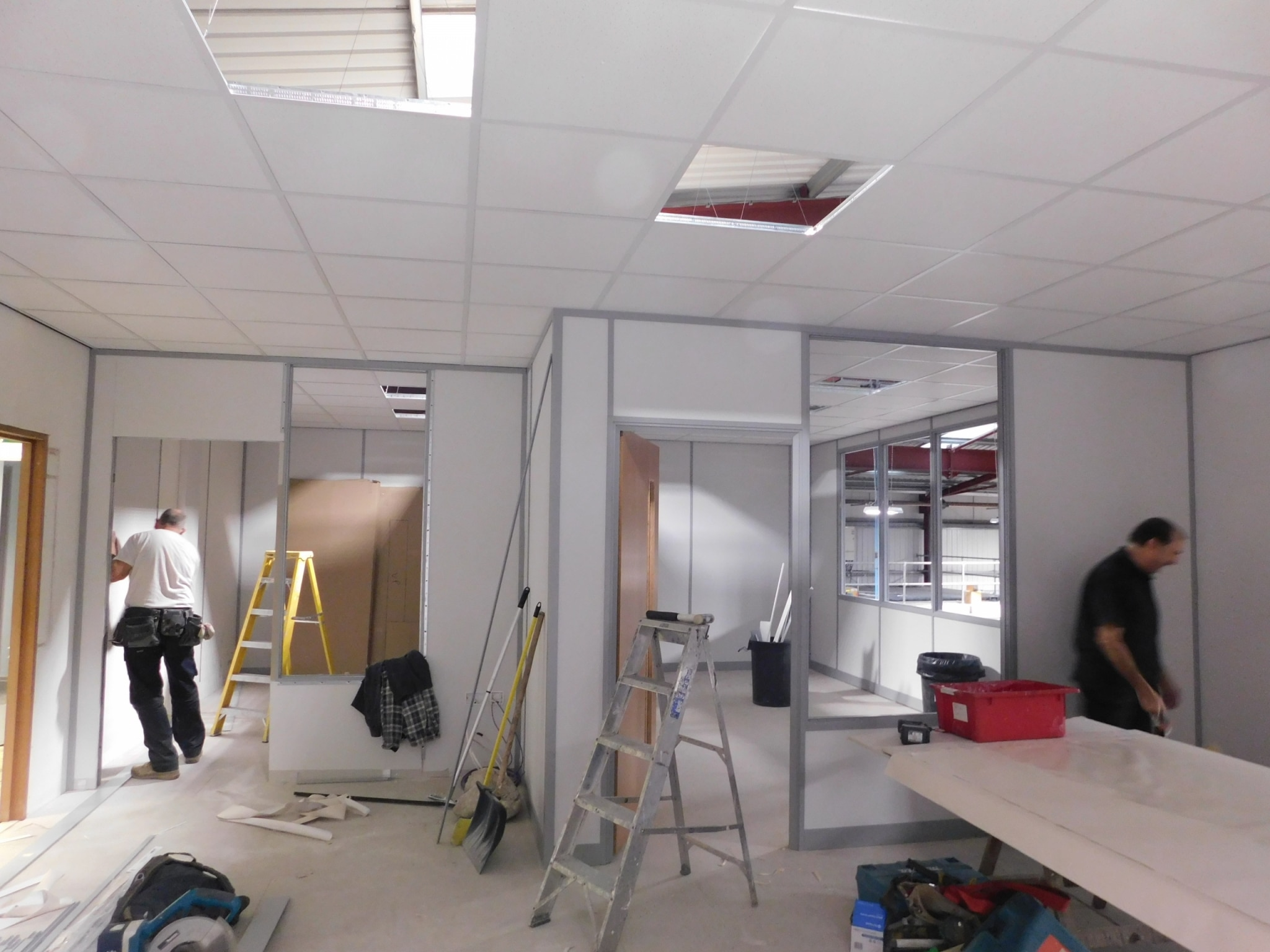 Building office partitioning