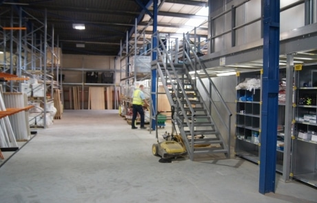 Mezzanine floor at Doncaster