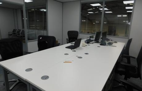 Office space on a mezzanine floor Installation