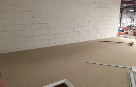 Office space on a mezzanine floor
