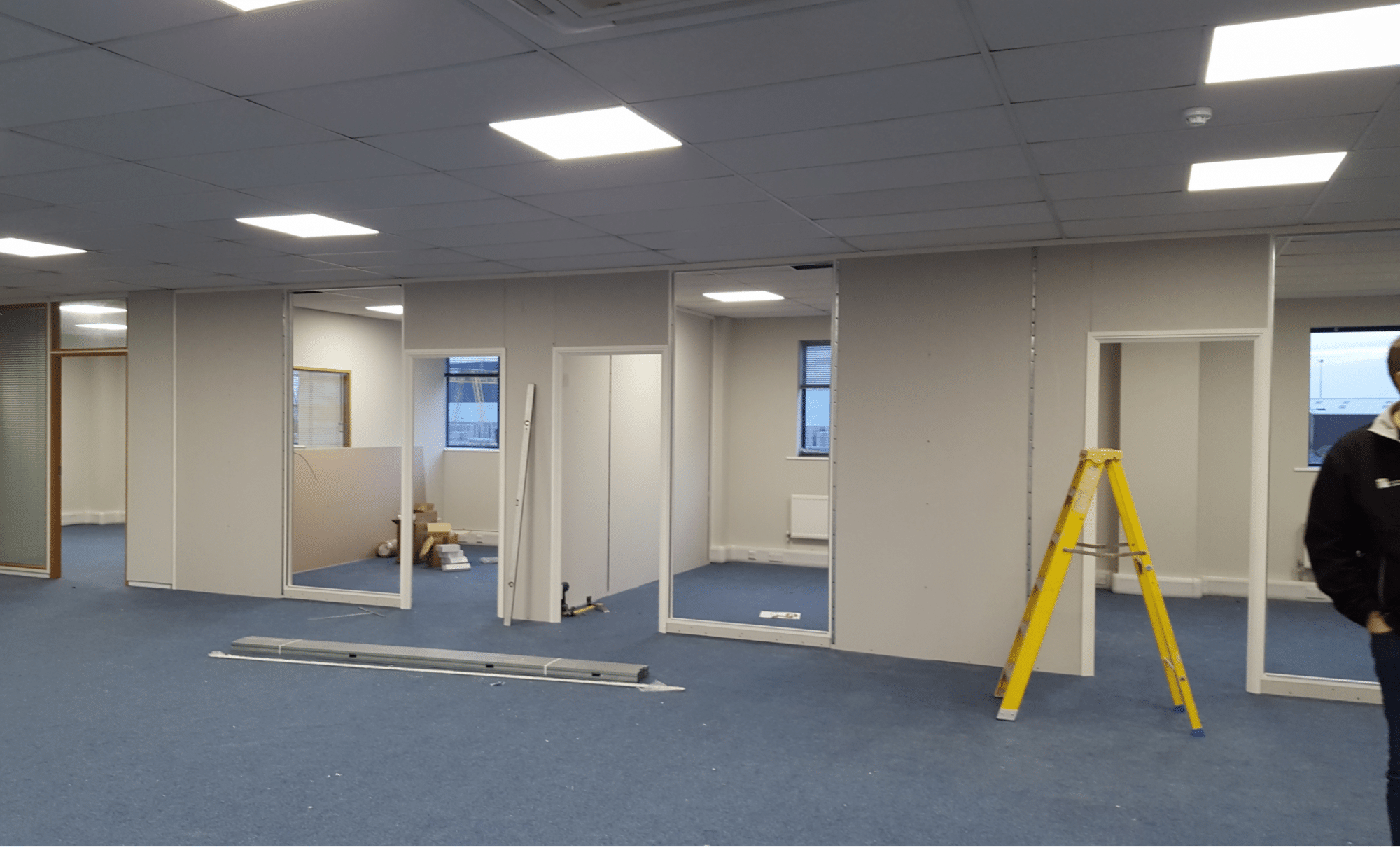 Office partitioning in progress