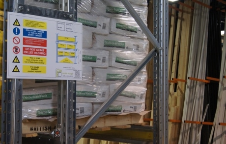 Weight Load Notices Pallet Racking