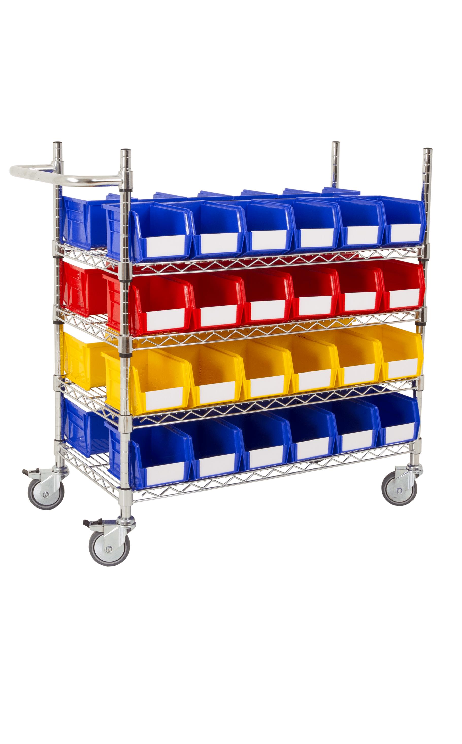 Anco Plastic Storage Bin trolley