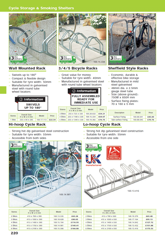 Cycle Storage & Smoking Shelters