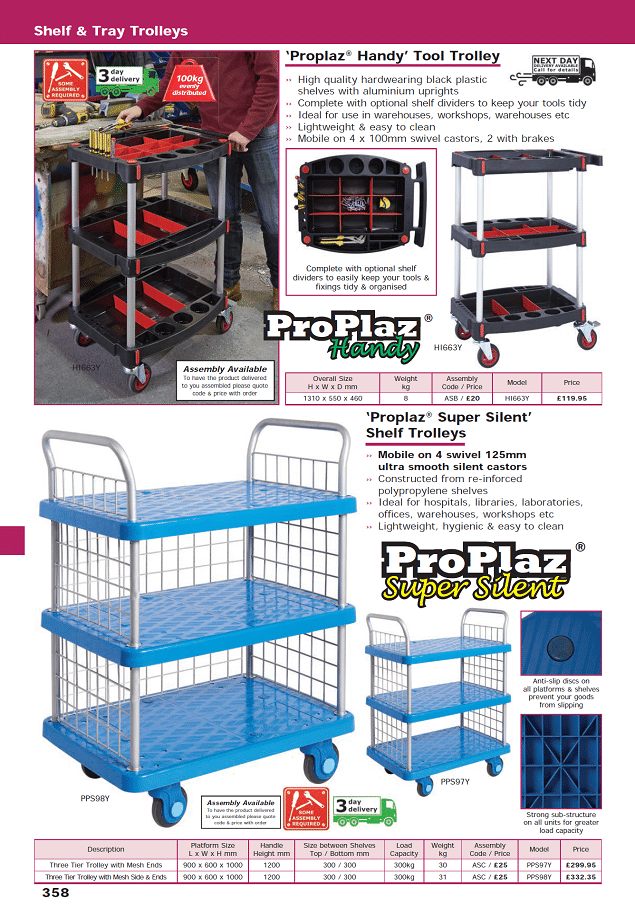 Shelf & Tray Trolleys