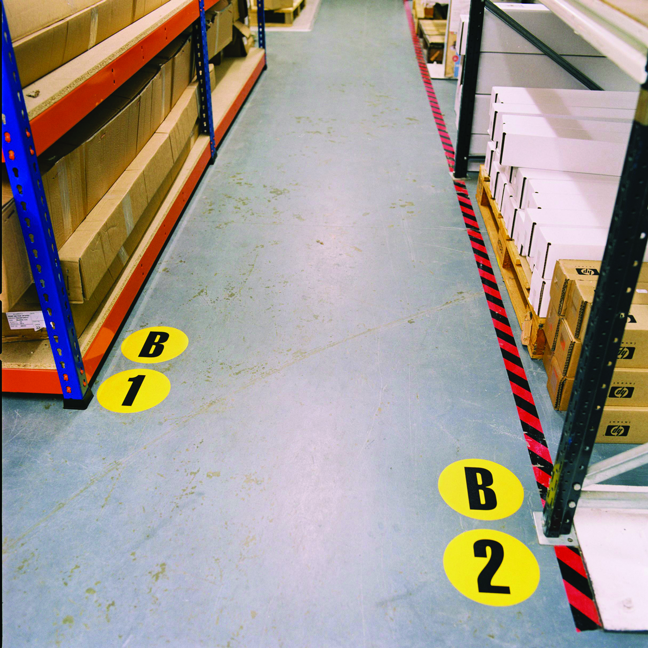 floor markers aisle Labelling