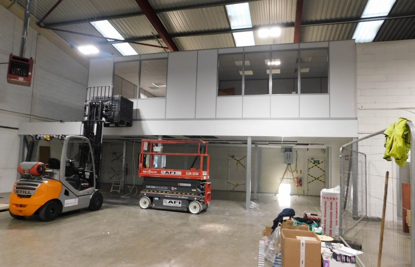 Mezzanine floor office space