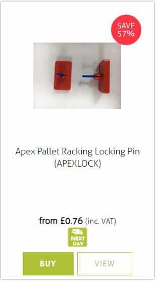 Apex pallet Racking Locking Pins